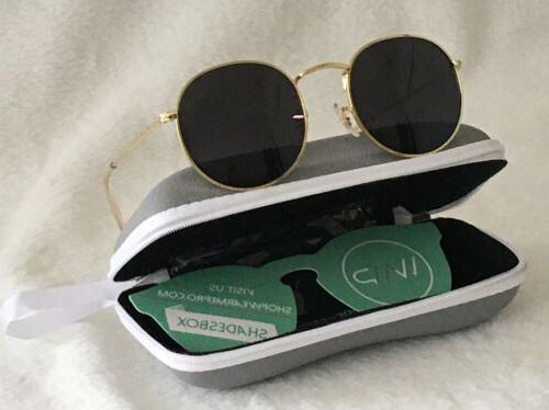 round trendy sunglasses