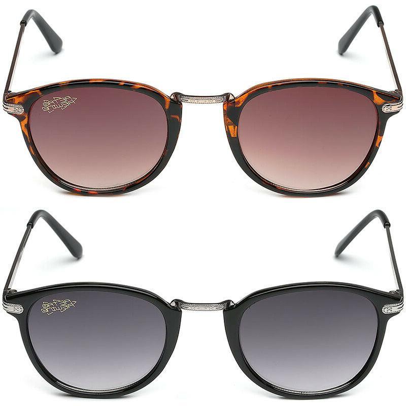 Retro Rewind Round Vintage Men's Women's Sunglasses Black Br