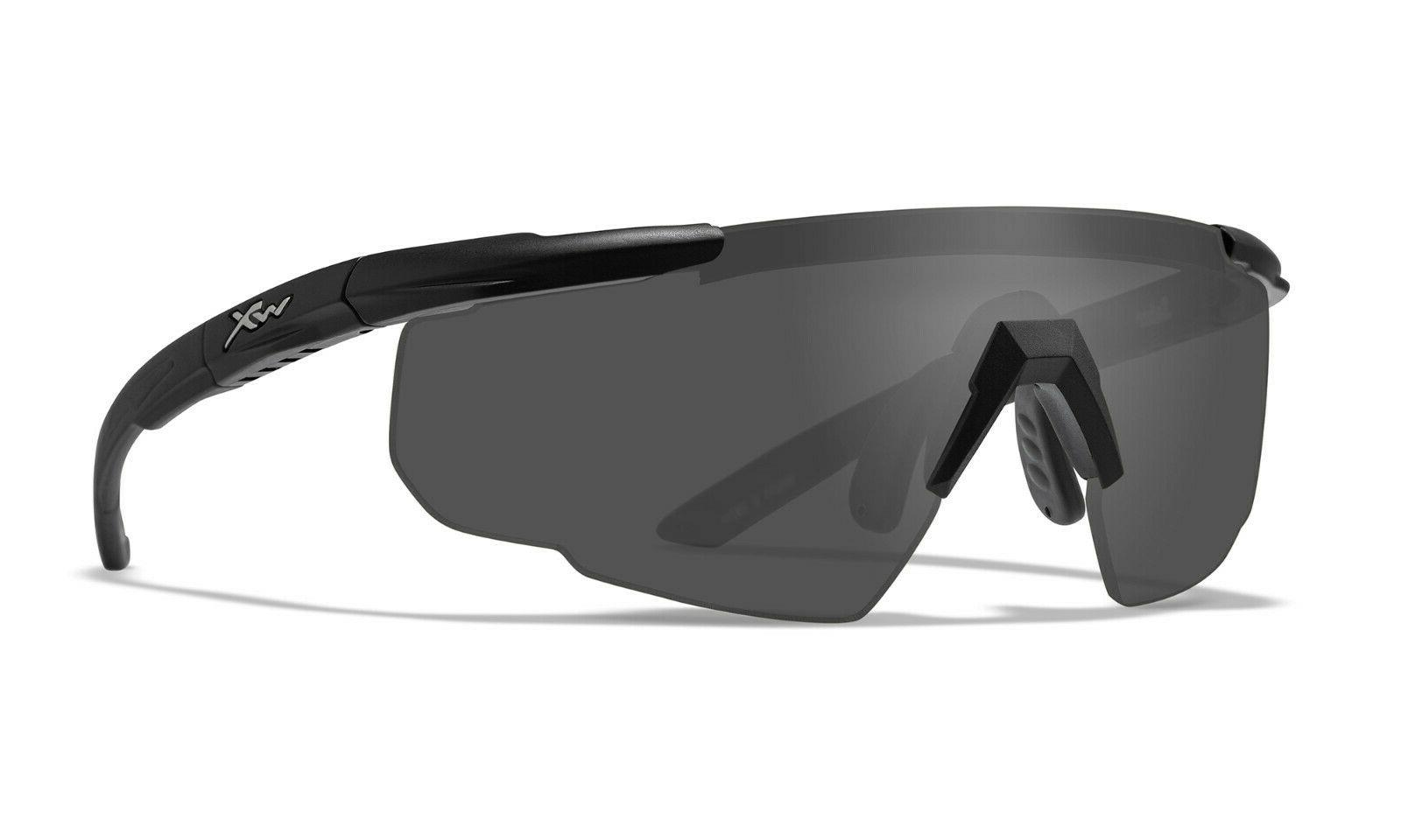 Wiley X Saber Advanced Sunglasses, Smoke Grey, Matte Black