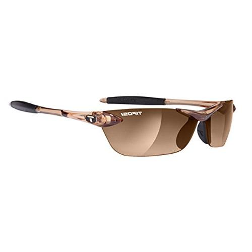 Tifosi Womens Seek 0180404779 Wrap Sunglasses,Crystal Brown