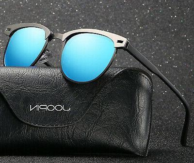 Joopin Semi Sunglasses Unisex Retro Brand Sun