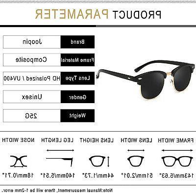 Joopin Rimless Polarized Sunglasses Retro Brand Sun Glasses