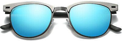 Joopin Semi Rimless Sunglasses Retro Sun Glasses