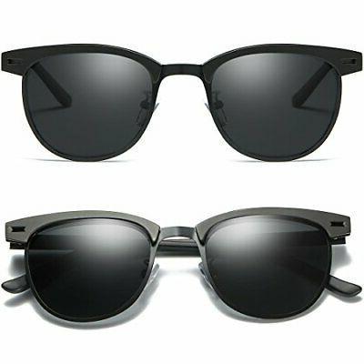 Joopin Semi Polarized Sunglasses Women Metal, Size