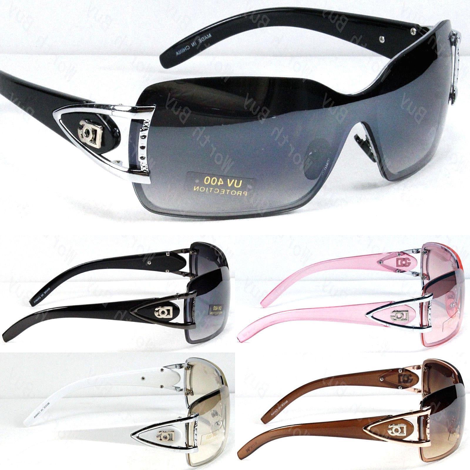DG Eyewear Shield Wrap Around Sunglasses Fashion Designer Sh
