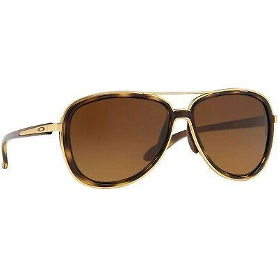 Oakley Split Time Women's Sunglasses OO4129-0658 Brown Gradi