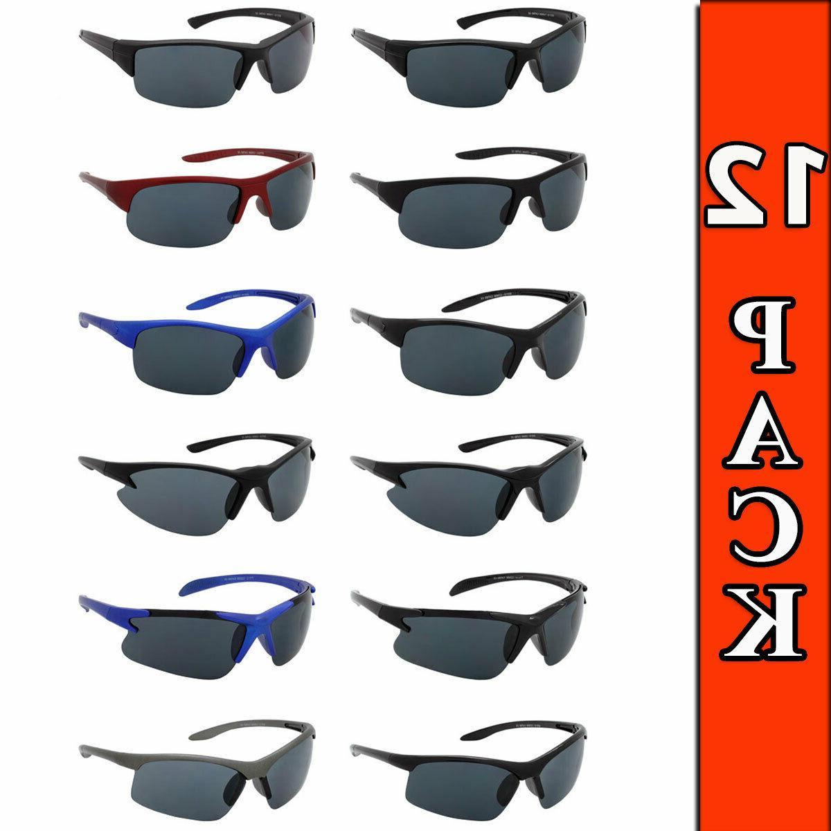 sport sunglasses wholesale 12 pack wrap style