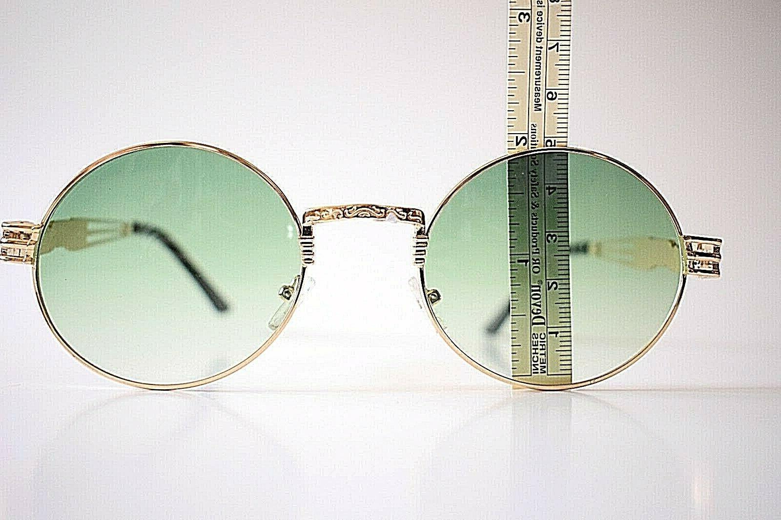 zeroUV Metal Green Round Lenses