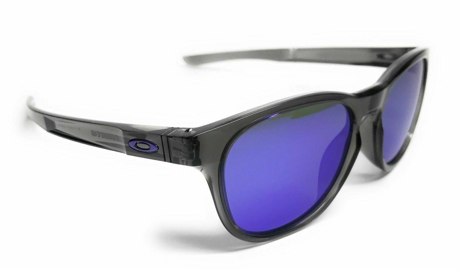 Oakley Stringer Grey Smoke Frame W/ Violet Iridium Lens