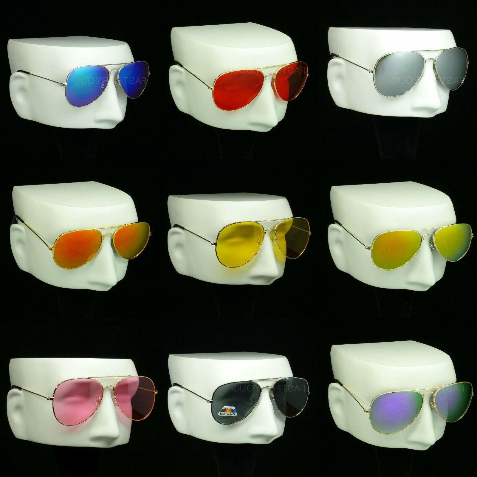 sunglasses aviator metal frame new men women