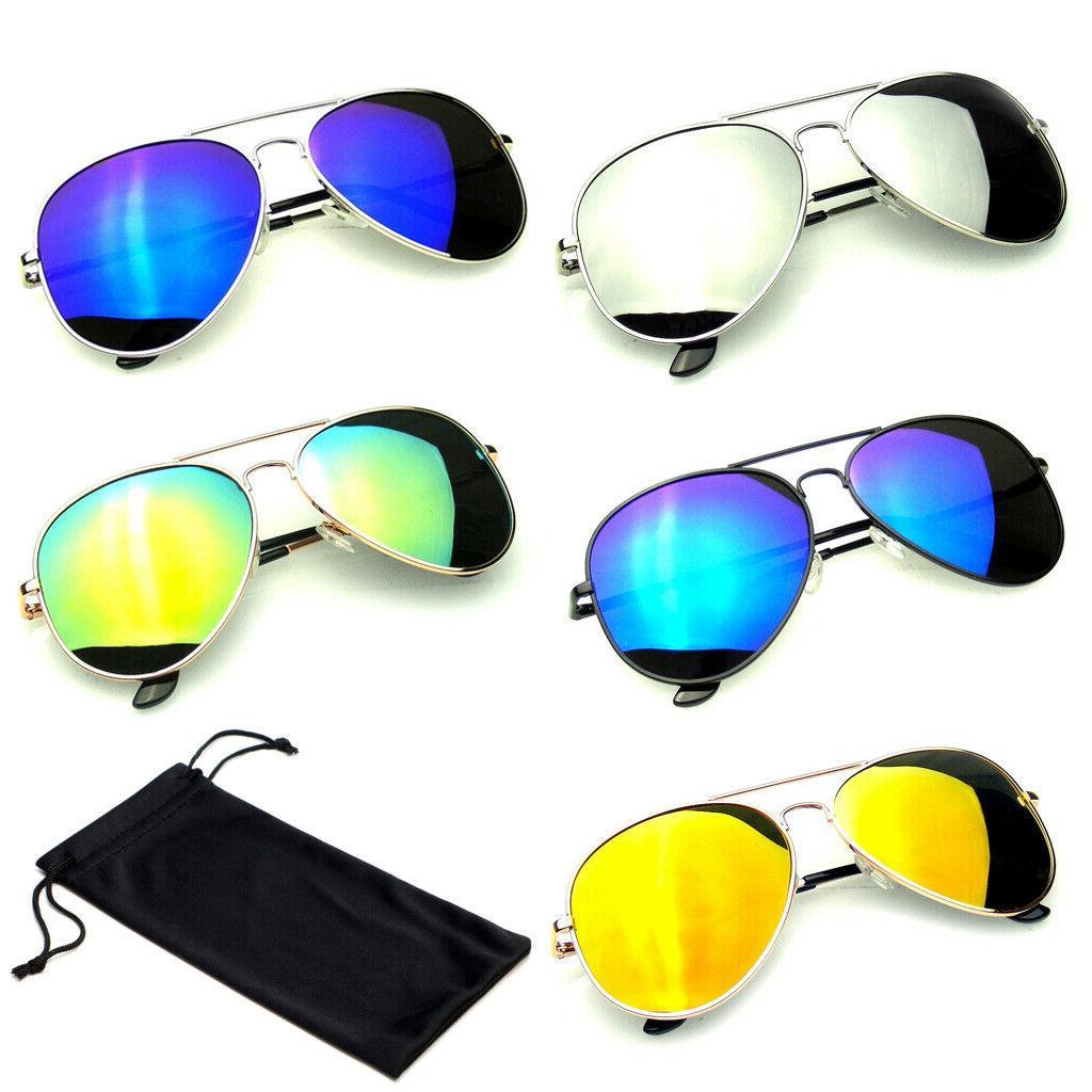 sunglasses aviator mirror men women uv400 new