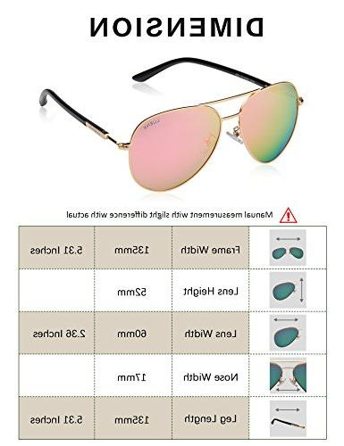 Womens Pink Mirror by - 400 Gold Frame 60mm