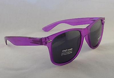 Retro Optix Sunglasses CLEAR PURPLE Flex Fit Unisex New Vint