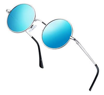 sunglasses round retro polaroid driving polarized men