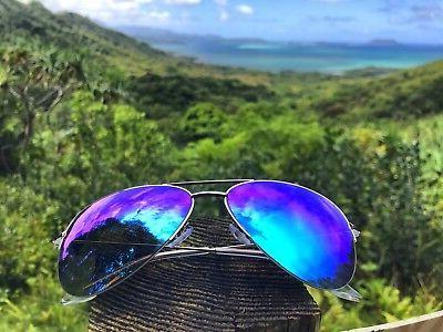 "Sunglasses Aviator ""SUPER Mirror Lenses Big Large Women GAFAS"