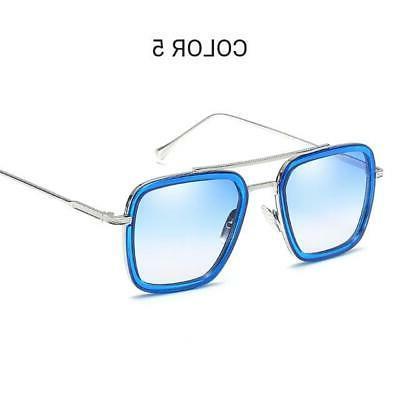 Tony Men Avengers Iron Square Sunglasses Retro