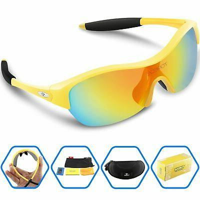Torege Tr90 Flexible Kids Sports Sunglasses Polarized Glasse