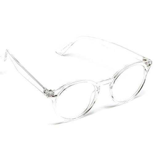 WearMe Pro - Transparent Clear Round Hipster Glasses