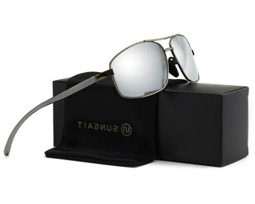 SUNGAIT Ultra Lightweight Rectangular Polarized Sunglasses FAST