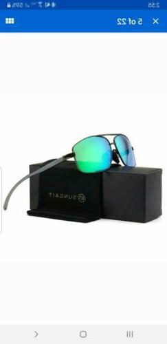 SUNGAIT Ultra Lightweight Rectangular Polarized Sunglasses U