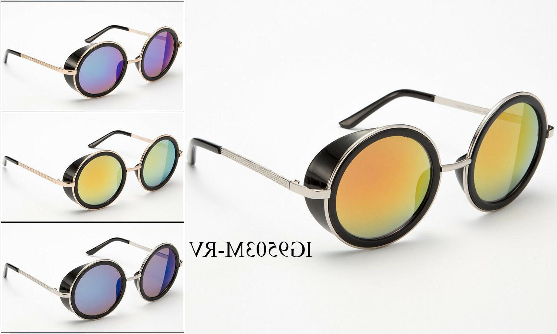 vintage retro mirror round sun glasses goggles