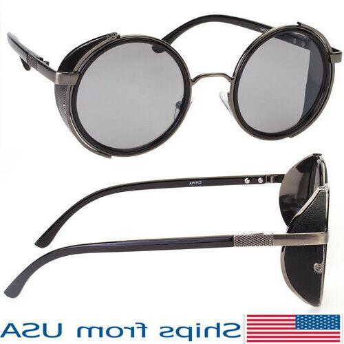 vintage retro mirror round sunglasses goggles steampunk