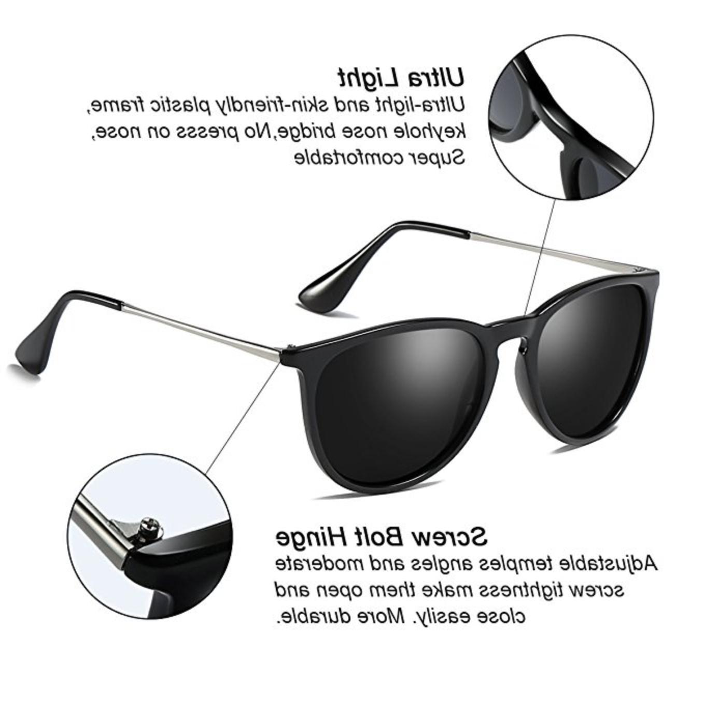 Vintage Retro Round Sunglasses For Women Erika Silver Frame