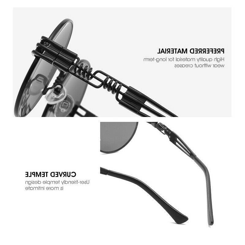 Vintage Retro Steampunk Sunglasses Luxury Designer Hippie Glasses