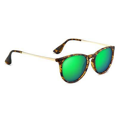 SUNGAIT Vintage Round Sunglasses for Women Men Classic Retro