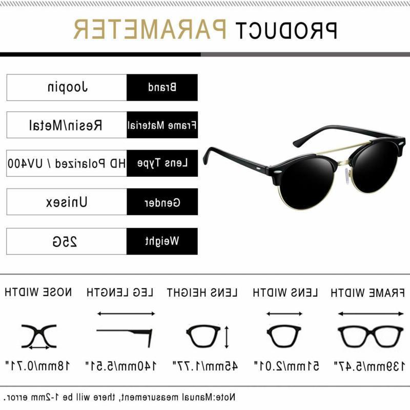 Joopin Vintage Round Sunglasses Polarized Sun