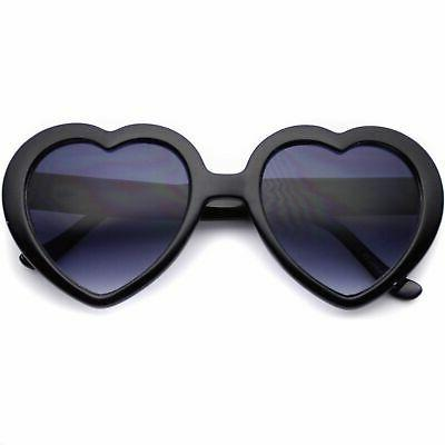 WearMe Pro - Cute Heart Aviator Sunglasses Pink Red