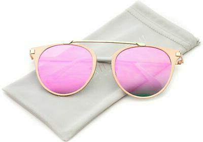 WearMe Pro - Modern Top Bar Aviator Style Sunglasses for Wom