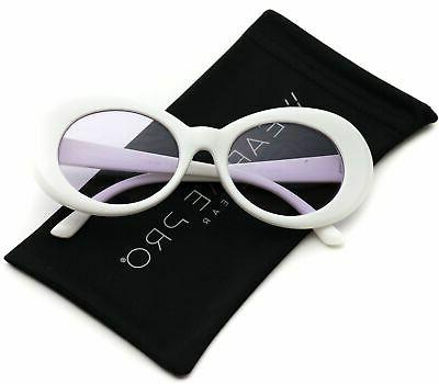 WearMe Pro - White Oval Tinted Lens Women Sunglasses
