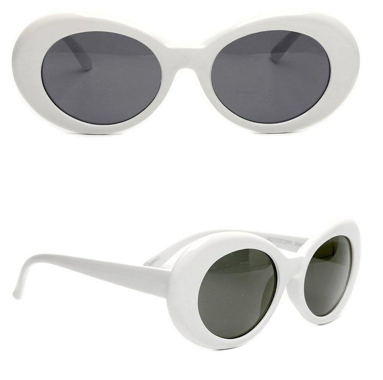 White Clout Goggles Glasses Vintage Classic Kurt Cobain Sung