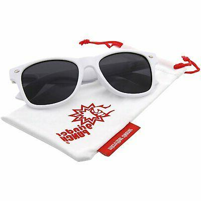 white polarized inspired sunglasses great for driving
