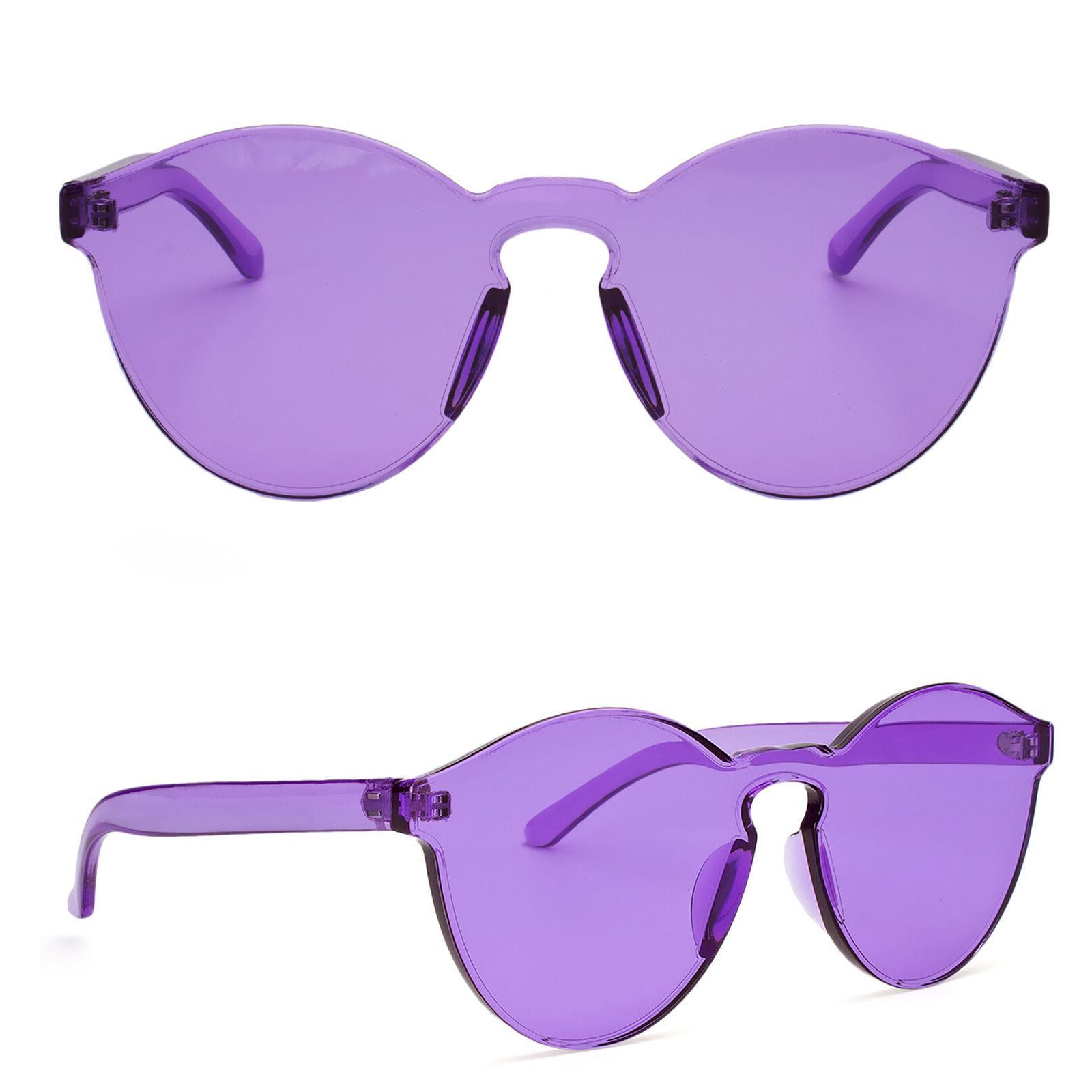 Women Cat Eye Transparent Candy Sunglasses Sun Shades Men Lu