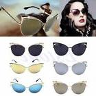 Womens Cat Eye Sunglasses Fashion Mirror Retro Large Oversiz
