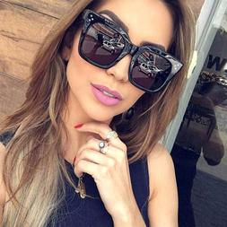 Large Oversized Square Sunglasses Women Fashion Thick Retro