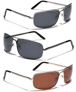 Large Polarized Men Square Aviator Sunglasses Fishing Drivin