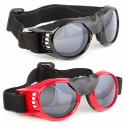 Large Wind Resistant With Strap Sunglasses Motorcycle Riding