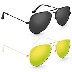 Livhò G Sunglasses for Men Women Aviator Polarized Metal Mi