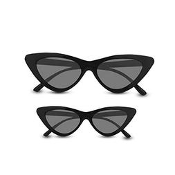 Livhò Retro Vintage Narrow Cat Eye Sunglasses for Women Clo