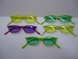 Lot of five VINTAGE style SUNGLASSES for TEENS new 100% UV c