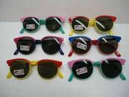Lot of six VINTAGE style Quality SUNGLASSES for KIDS new 100