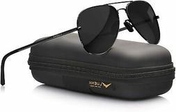 LUENX Aviator Sunglasses for Men Polarized - UV 400 Protecti