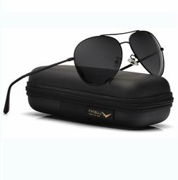 Luenx Aviator Sunglasses Polarized UV 400 60mm Men Women Mir