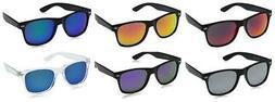 zeroUV - Matte Black Horn Rimmed Sunglasses 100% UV Protecti
