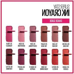 Maybelline SuperStay Ink Crayon ~ Choose From 12 Shades