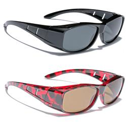 Medium POLARIZED Sunglasses FIT OVER Prescription RX Eye gla