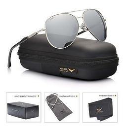 LUENX Men Aviator Sunglasses Polarized Women - UV 400 with c